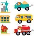 assorted car set vector image