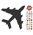 bomber icon with dating bonus vector image