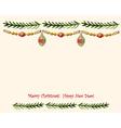 Christmas watercolor retro postcard vector image