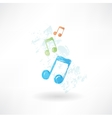 color music grunge icon vector image