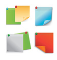 Colored paper notes vector image