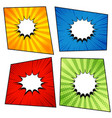 comic pages collection vector image