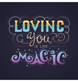 Hand lettering love quote calligraphic card vector image