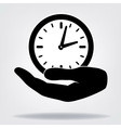Hand with clock vector image