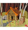 Little house in the forest vector image