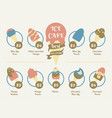 menu food design for ice cream cafe sweet dessert vector image