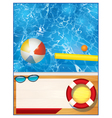 Swimming Pool Background Template vector image