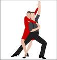 tango dancers 4 vector image