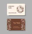 Vintage business card collection vector image