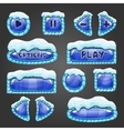 Winter buttons with snow vector image