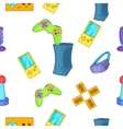 Play station pattern cartoon style vector image