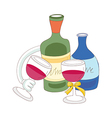 A view of drinks vector image vector image
