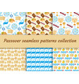 passover seamless pattern collection pesach vector image