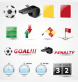 set of 14 football icon vector image
