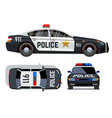 flat-style cars in different views police vector image