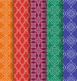 Set of Arabic geometric seamless patterns Ethnic vector image