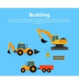 Building Concept Banner Flat Design vector image