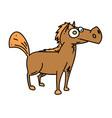 cartoon horse cartoon hand drawn image vector image