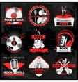 Dark Music Label Set vector image