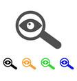 examine eye flat icon vector image