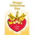 Holiday heart shaped card vector image