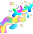 liquid plastic colorful shapes vector image