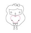 Love Girl vector image