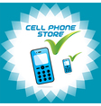 Mobile Phone Store Icons vector image