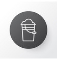 pail icon symbol premium quality isolated bucket vector image