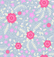 Seamless pattern with flowers and strawberry vector image