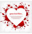 splash heart red shape 10 v vector image
