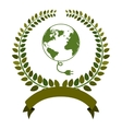 Think green ecology vector image