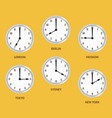 world time zones vector image