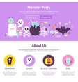 Monster Party Website Design vector image
