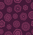 Dark red flowers pattern vector image