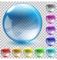 Multicolored transparent glass spheres vector image