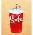 Soda kraft vector image vector image