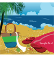 summer background with sea creatures vector image