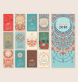 calendar 2018 vintage decorative elements vector image