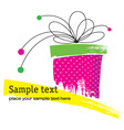 Grunge gift box vector image