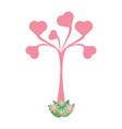 heart tree love vector image