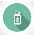 herb medicine icon vector image