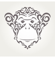 monkey symbol of New Year vector image
