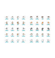 people avatars collection default vector image