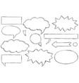 set of text speech bubbles doodles vector image