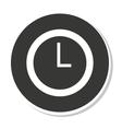 time clock design vector image
