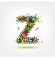 Floral letter for your design vector image vector image
