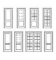 set door interior vector image