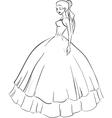 Beautiful bride in wedding dress vector image vector image