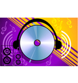compact disk with headphone vector image vector image
